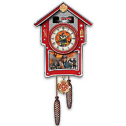 Around the Clock Heroes Firefighters Cuckoo Clock