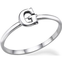 Sterling Silver Letter Ring