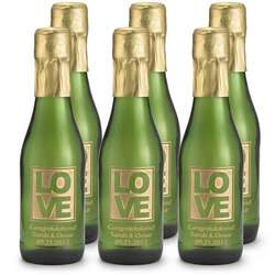Mini Etched Sparkling Wine Bottle Favors