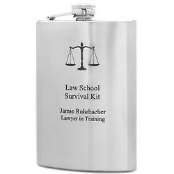 Law School Survival Kit Flask