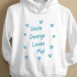 Somebody Loves Me Toddler Hooded Sweatshirt