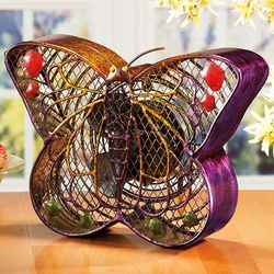 Iridescent Butterfly Fan