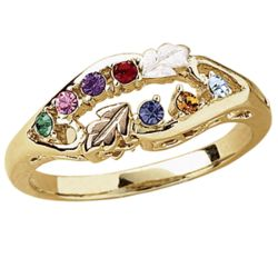 Tri-Color Family Birthstone Ring