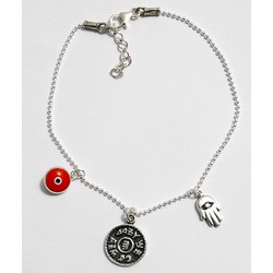 Prosperity & Success Charms Silver Anklet