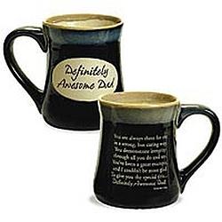 Definitely Awesome Dad Pottery Mug