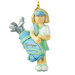 Personalized Golfer Ornament