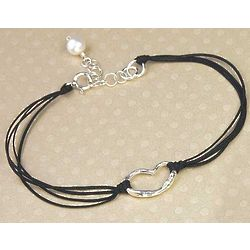 Erin's Heart Bracelet in Black