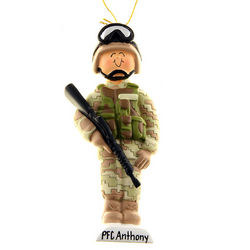 Army Soldier in Fatigues Ornament