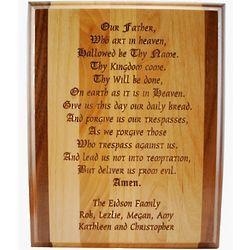 Our Father Prayer Plaque