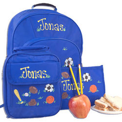 Little Scholar School Supplies Set in Blue