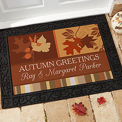 Personalized Happy Autumn Doormat