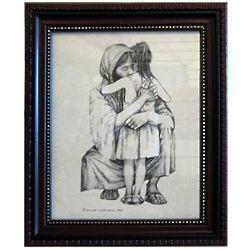Jesus Hugging Girl Framed Picture