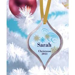 Personalized Dazzling Snowflakes Ornament