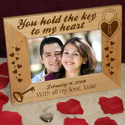 Key to My Heart Wooden Picture Frame