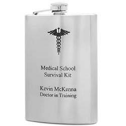 Medical School Survival Kit Flask