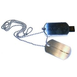 Electro 8 Gigabyte USB Dog Tag Necklace