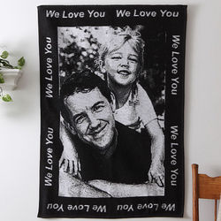 Personalized Photo Blanket with Custom Border