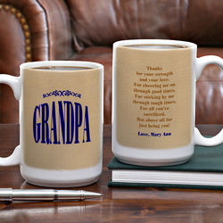 Thanks for Being You Large Ceramic Personalized Coffee Mug