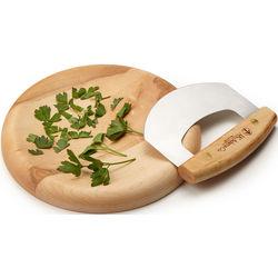 Herb Bowl with Mezzaluna Cutlery