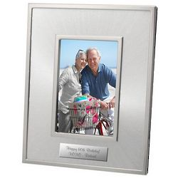 Personalized Starburst Silver Photo Frame