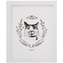 Personalized Pet Illustration Art Print