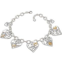 Loving Wishes for My Daughter Engraved Heart Charm Bracelet