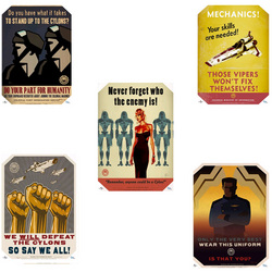 Battlestar Galactica Propaganda 5 Poster Set