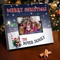 Personalized Santa Christmas Picture Frame