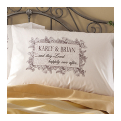 Personalized 'And They Loved Happily Ever After' Pillowcase Set