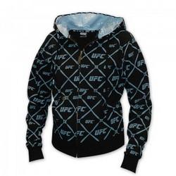 Menace Ladies Hooded Sweatshirt in Black