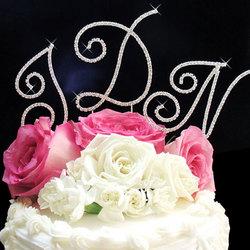 Full Crystal Monogram Cake Topper