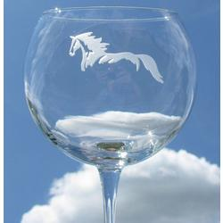 Balloon Wine Glasses with Horse Design