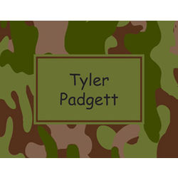 Camouflage Personalized Notecards