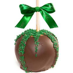 St. Patrick's Day Chocolate Dunked Caramel Apples