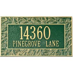 Pine Cone Address Plaque