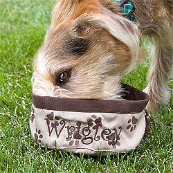 Personalized Dog Travel Bowl
