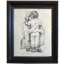 Jesus Hugging Boy Framed Picture