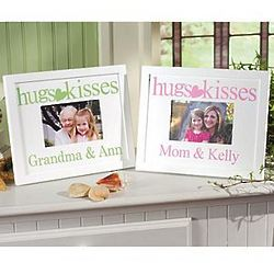 Personalized Hugs and Kisses Frame