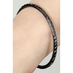 Safari Thin Black Titanium Bangle