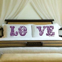 Personalized Wine Love Pillow Case Set