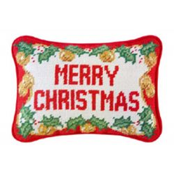 Needlepoint Merry Christmas Pillow