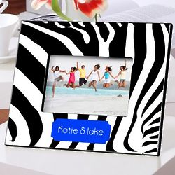 Personalized Zebra Picture Frame