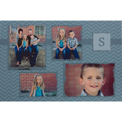 Four Picture Personalized Photo Collage 24x36 Canvas