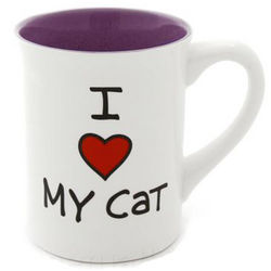 I Heart My Cat Coffee Mug