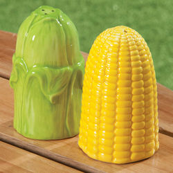 Ceramic Corn Salt and Pepper Shakers