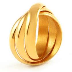 Triple Roll Russian Wedding Ring