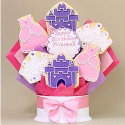 Happy Birthday Princess Cookie Bouquet
