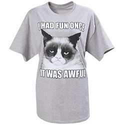 I Had Fun Once Grumpy Cat T-Shirt