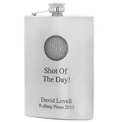 Shot of the Day Golf Flask