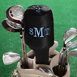 Golf Club Cover with Raised Monogram